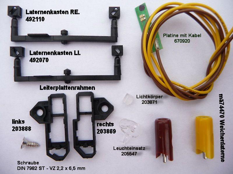 Beleuchtungs-Umbau an C-Gleis Weichen